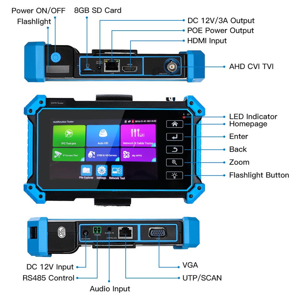 تستر ipc5100 plus